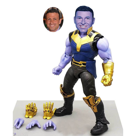 Custom Bobblehead Thanos Action Dolls, Personalized Thanos Action Figure Of Yourself - Abobblehead.com