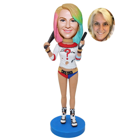 Custom Bobblehead Uicide Squad Doll, Personalized Suicide Squad Figurines For Girl - Abobblehead.com