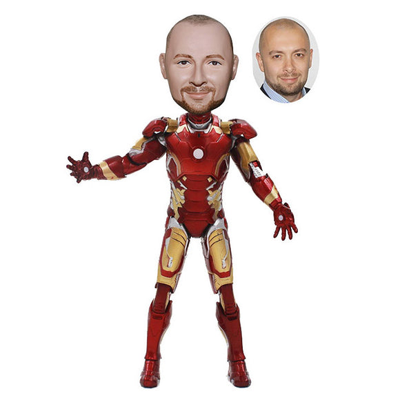 Custom Iron Man Statues, Custom Iron Man Bobble Head, Customized Iron Man Bobblehead - Abobblehead.com