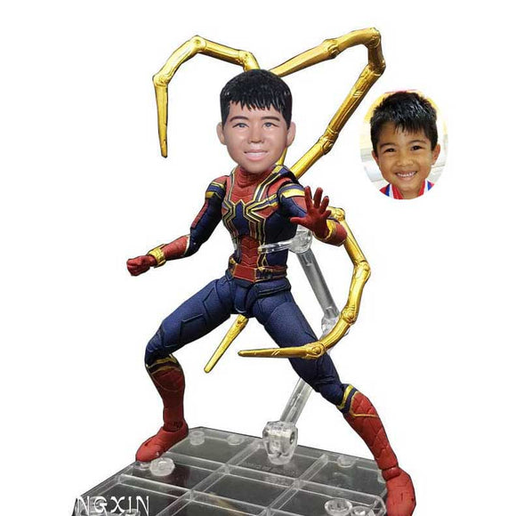 Custom Peter Parker Spider-Man Bobblehead Action Dolls For Kids Or Man - Abobblehead.com