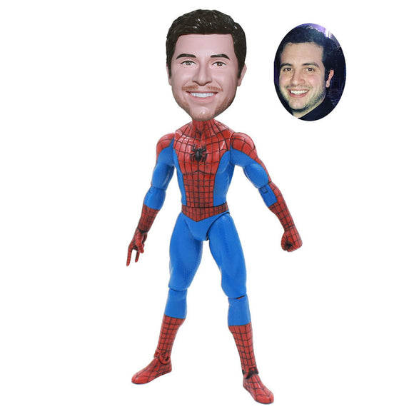 Custom Spider-Man Bobble Head Action Dolls, Custom Made Spiderman Bobbleheads From Photo - Abobblehead.com