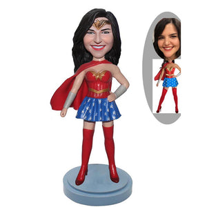 Custom Wonder Woman Bobblehead From Photo, Wonder Woman Custom Action Figure - Abobblehead.com