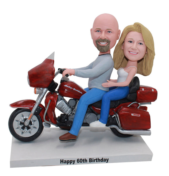Custom Couple Motorcycle Bobblehead, Couple Motorcycle Custom Bobble head - Abobblehead.com