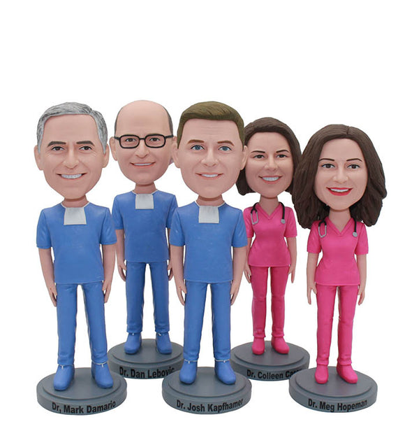 Custom Bobbleheads Surgeon, Nurse, Pharmacist, Attending Doctor, Family Doctor, Dentist Template - Abobblehead.com