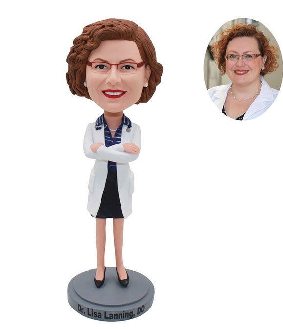 Custom Bobbleheads For Director Of The Hospital, Doctor, Nurse - Abobblehead.com