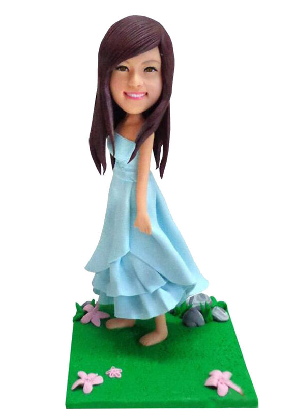 Custom Girls Bobbleheads Figurine, Custom Bobble head of My Daughter - Abobblehead.com