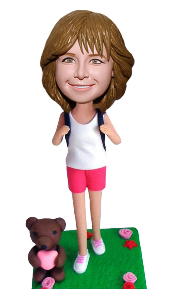 Get a Doll Made That Looks Like My Daughter, Custom Bobbleheads for Little Girl, Custom Student Bobbleheads - Abobblehead.com