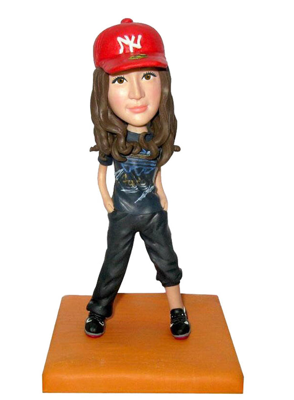 Custom Hip Hop Girl Bobbleheads Doll From Photo, Cheap Bobble Heads that Look Like You - Abobblehead.com