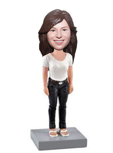 Custom Summer Bobbleheads Women Gril Make Your Doll Look Like You - Abobblehead.com