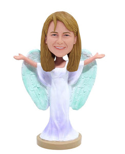 Make A Angel Wings Bobble Head of Yourself, Custom Angel Bobblehead - Abobblehead.com