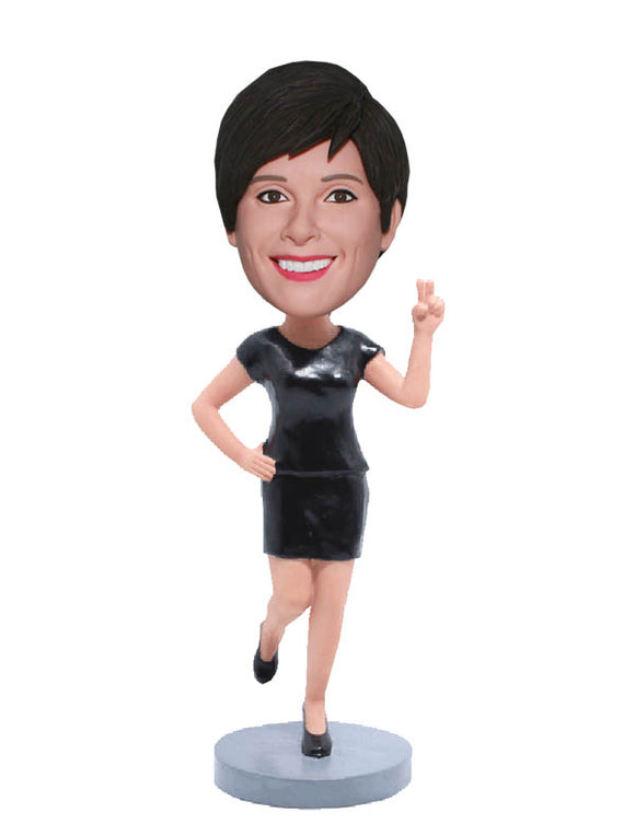 Make A Bobblehead Of Yourself, Custom Bobbleheads Workplace Woman - Abobblehead.com