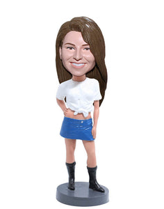 Custom Cheerleader Bobbleheads, Make Your Own Bobblehead Cheerleader - Abobblehead.com
