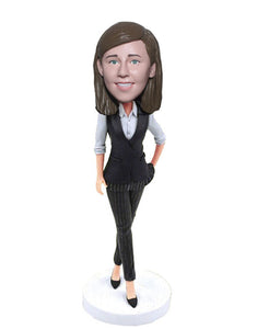 Custom Suit Bobblehead Corporate Gifts, Unique Gifts for Boss, Boss Day Gifts for Him - Abobblehead.com
