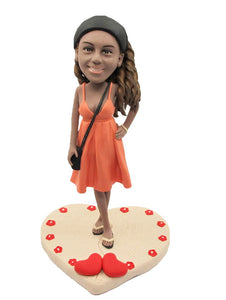 Girl Personal Bobble Heads, Custom Beauty Made Dolls that Look Like You - Abobblehead.com