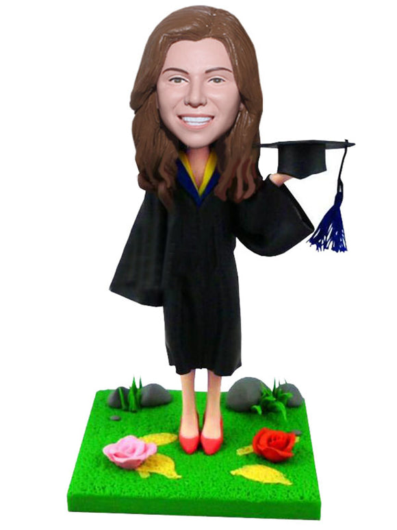 Custom Graduation Bobblehead Custom Graduation Gifts For Doctor, Master's Degree, Bachelor - Abobblehead.com