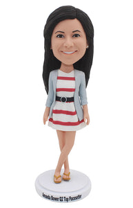 Creat Your Own Amrican Girl Bobblehead Doll That Looks Like You - Abobblehead.com