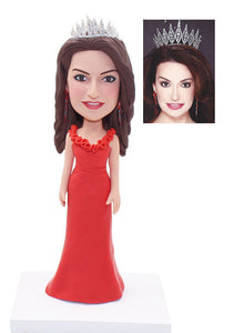Custom Crown Bobbleheads, Custom Bride Bobbleheads, Custom Beauty Queen Bobblehead - Abobblehead.com