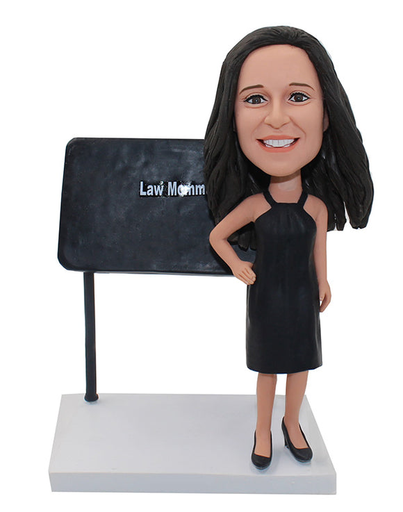 School Teacher Cstom Bobble Head With Right Hand On The Hip - Abobblehead.com