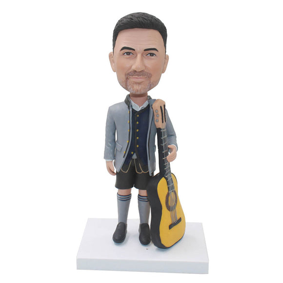 Custom Bobbleheads Best Gifts For Musicians And Singers With Guitar - Abobblehead.com