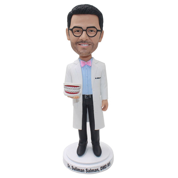 Custom Man Bobble Head Doctor, Personalized Doctor Bobbleheads to Buy A Doctor Figure For His Birthday - Abobblehead.com