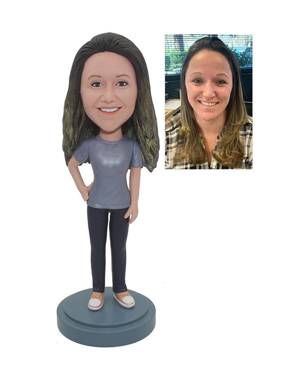 Cheap Personalized Custom Made Bobblehead For Women Free Shipping - Abobblehead.com