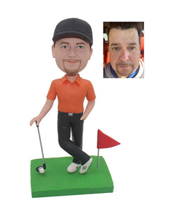 Custom Golf Bobblehead That Look Like You, Personalized Golf Gifts For Men - Abobblehead.com
