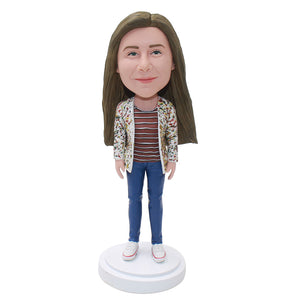 Create Your Own Bobblehead That Look Like You, Custom Women Figure Sculptures From Photos - Abobblehead.com