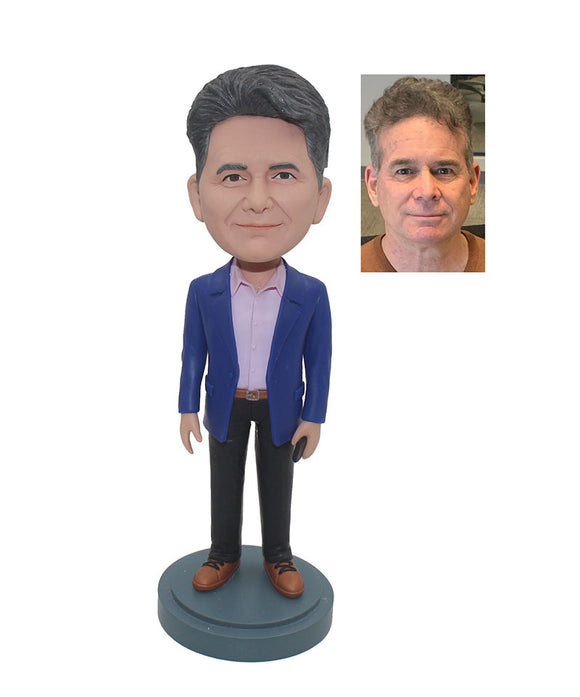 Custom Bobblehead For Successful Businessman, Custom Bobbleheads For Father - Abobblehead.com