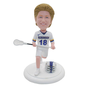 Custom Lacrosse Coach Bobblehead, Custom Bobbleheads Northwestern Women's And Men's Lacrosse - Abobblehead.com