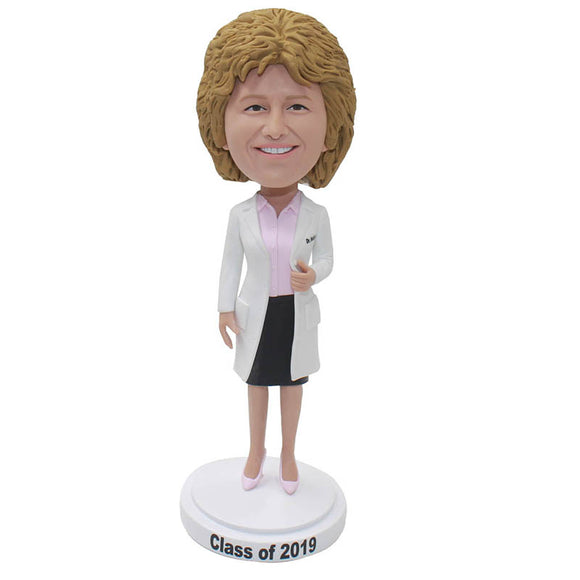 Create A Doll That Looks Like You, Custom Female Doctor Bobblehead Figure Sculptures - Abobblehead.com