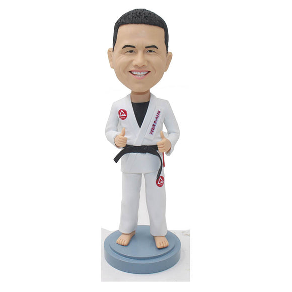 Personalized Judo Bobblehead, Custom Taekwondo Bobblehead, Custom Kongfu Man Bobble Head - Abobblehead.com