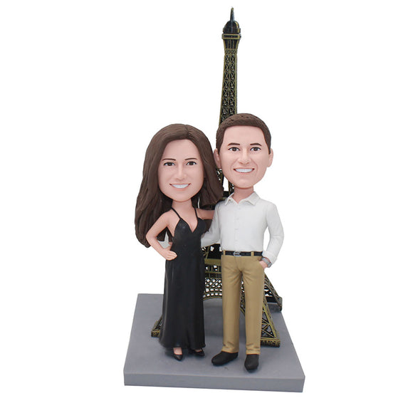 Custom Wedding Cake Toppers Bobblehead, Custom Anniversary Couple Bobbleheads Free Shipping - Abobblehead.com