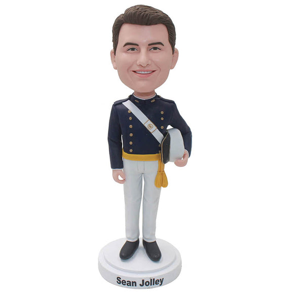 Custom Soldier Bobblehead, Custom Bobble Head Police Officers For Gift - Abobblehead.com
