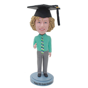 Personalized PhD Graduation Bobblehead, Unique College Graduation Gifts For Him - Abobblehead.com