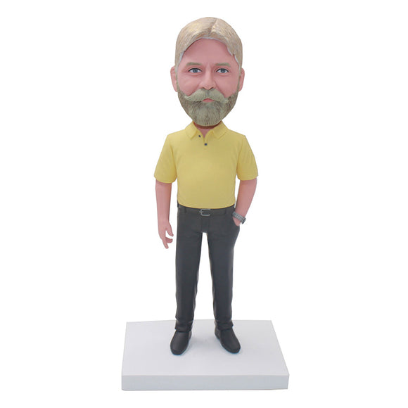 Best Custom Bobblehead Gifts, Custom Casual Wear Bobbleheads For Father, Friend, Boss - Abobblehead.com
