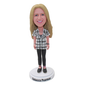 Custom Bobblehead Dolls Look Like You, Custom Women Figure Sculptures From Photos - Abobblehead.com