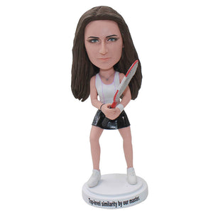 Custom Tennis Bobbleheads Best Gifts For Tennis Lovers, Custom Badminton Figure Sculptures From Photos - Abobblehead.com