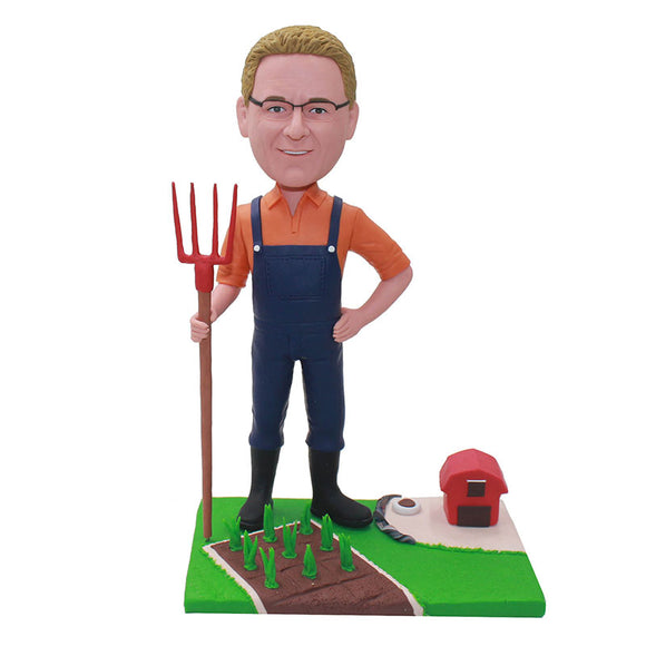 Make A Bobblehead Online Farmer, Make A Bobblehead Of My Husband - Abobblehead.com