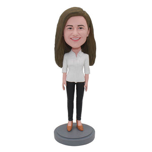 Custom Bobblehead That Looks Like My Girlfriend, Birthday Gift For friend Female Online - Abobblehead.com