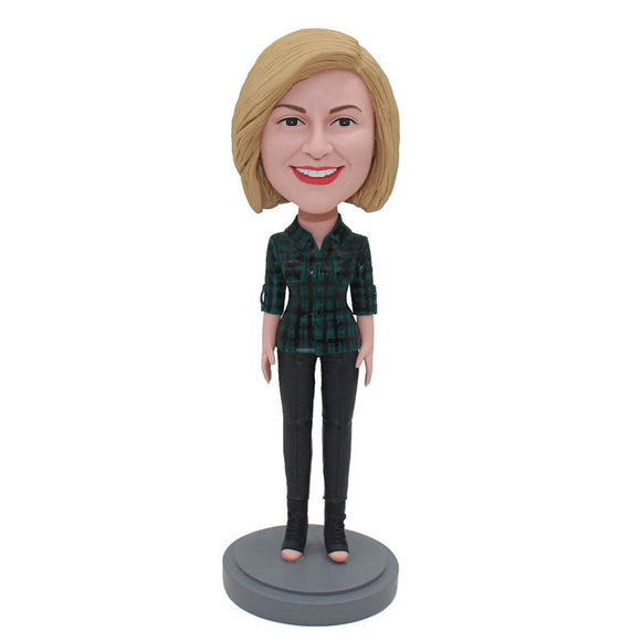 Custom Bobblehead Best Birthday Gifts New Girlfriend Great Gift Idea For Colleagues, Friends, Family - Abobblehead.com