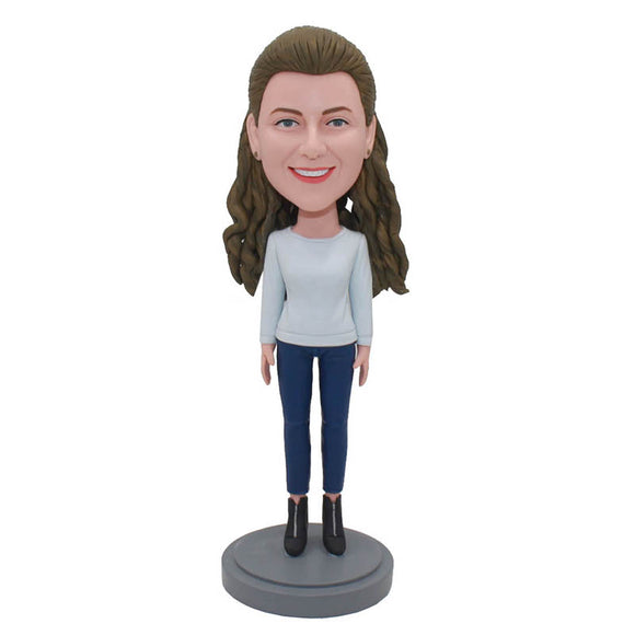 Custom Bobbleheads Best Gift For A Girl Friend Who Has Everything - Abobblehead.com