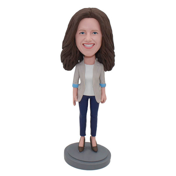 Custom Bobbleheads Doll That Look Like You, Funny Gifts To Give Your Girlfriend - Abobblehead.com