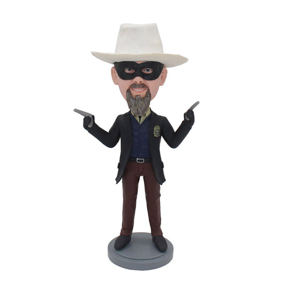 Custom Zorro Bobbleheads Holds A Double Gun From Your Photos - Abobblehead.com