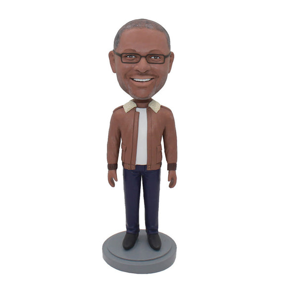 Custom Bobblehead From Photos, Custom Best Gift For Boyfriend Christmas, Birthday - Abobblehead.com