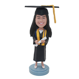Custom Bobblehead Gifts For Phd Graduation, Custom College Graduation Gifts for Her - Abobblehead.com