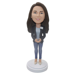 Personalized Women Bobblehead Best Christmas Gifts For Executives - Abobblehead.com