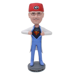 Custom Bobbleheads Superman, Make Yourself Into Superman Figurine, Custom Superhero Figures - Abobblehead.com