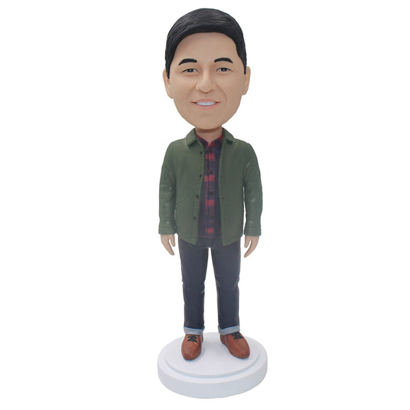 Make Your Own Bobblehead From Your Photos, Build Your Own Bobblehead Man - Abobblehead.com