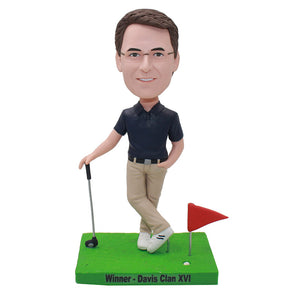Custom Bobblehead Best Golf Gifts For Men, Custom Golfer Bobblebeads For Boss Gifts - Abobblehead.com