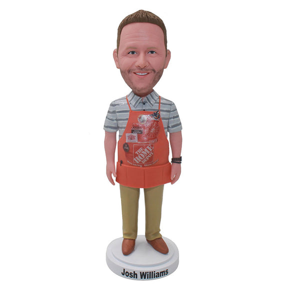 Personalized Chef bobbleheads, Custom Chef Bobblehead Man Best Gifts For A Chef - Abobblehead.com